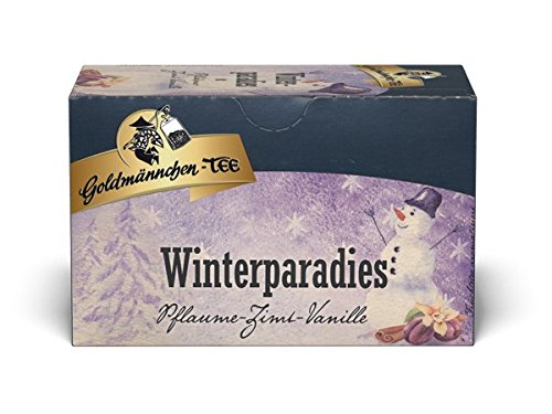 Goldmännchen Wintertee Winterparadies, 20 einzeln versiegelte Teebeutel, 3er Pack (3 x 50 g)