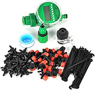 Watering Kits - 25m DIY Micro Drip Irrigation System Plant Automatic Self Watering Garden Hose Kits with Timer +30x Adjust...