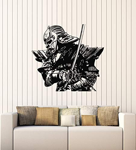 Vinyl Wall Decal Ronin Samurai Warrior Fighter Japanese Style Stickers Mural Large Decor (g4307) Black