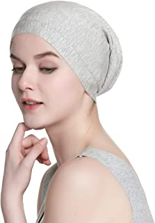 Alnorm Cozy Satin Lined Slouchy Beanie Cap Soft Elastic Band Men & Women