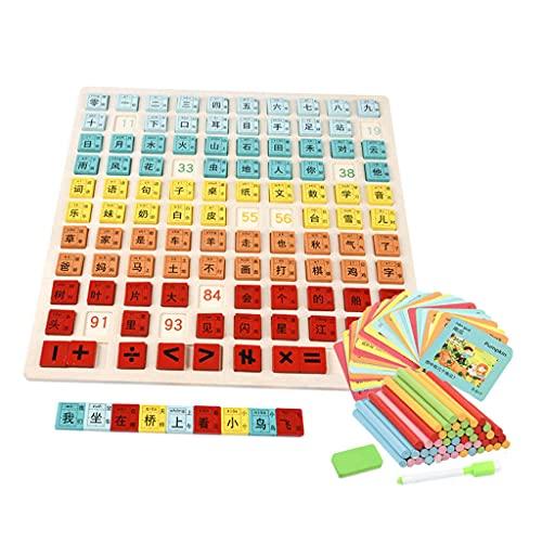 HomeDecTime Número de Madera Puzzle Tablero Clasificación Edificio Bloque de Desarrollo Domino Toys Regalo