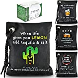 Activated Charcoal Air Purifying Bags - 4 Pack - Natural Green Organic Bamboo Charcoal Bags – Scent Freshener, Charcoal Odor Absorber, Deodorizer, Pet Smell Eliminator for Home, Car, Closet, Gym Bag