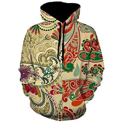 BaolaBei Totem Paisley Hoodies Hommes Femmes Manches Longues Automne Hiver Survêtement Casual Sweat À Capuche Tops Hoodies Men XXL