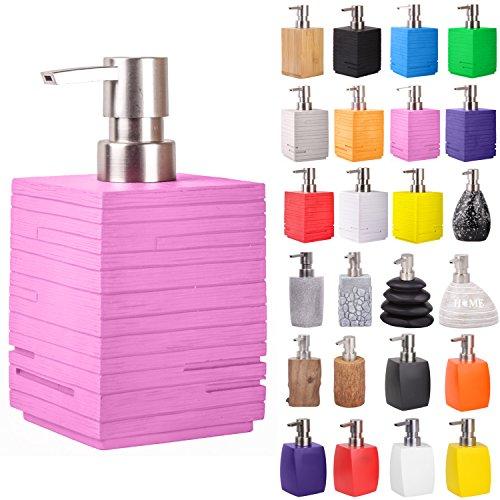 Seifenspender | viele schöne Seifenspender zur Auswahl | modernes, stylisches Design | Blickfang für jedes Badezimmer (Calero Pink)