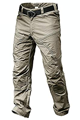 ANTARCTICA Mens Hiking Tactical Pants Lightweight Waterproof Military Army Jogger Casual Cargo Jogger Casual Trousers Khaki
