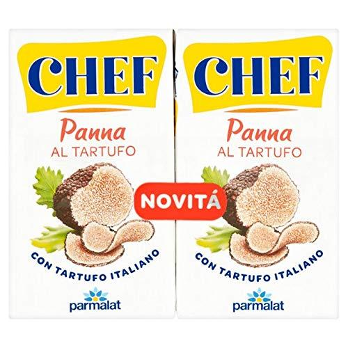 Parmalat Panna Sahne chef al tartufo per cucinare Kochcreme creme mit Trüffel 2x125g