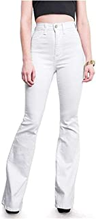 Grimgrow Women's Slim Fit Bell Bottom High Rise Flared Jeans Bootcut Denim Pants
