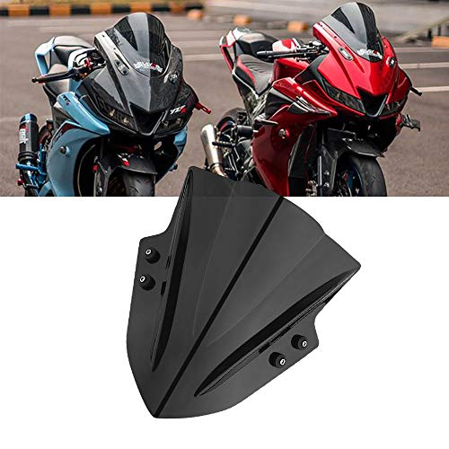 Cupolino Moto - Parabrezza Universale Regolabile per Street Bike Sport Bike Scooter Cruiser Moto