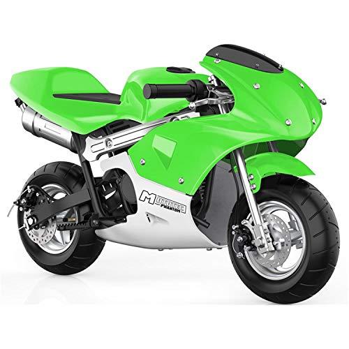 MotoTec Phantom Gas Pocket Bike 49cc 2-Stroke Engine Green