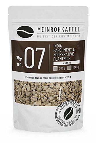 Café verde - India Pergamino A (granos de café verde) - fuerte aroma oscuro - 500 g