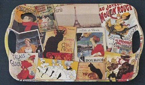 Dessous de Plats Plateau Melamine 31X46cm Pele Mele Ambiance Cabaret Paris 1900