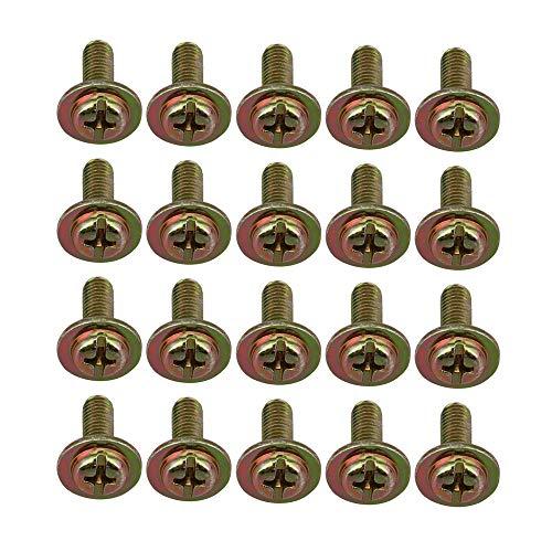 BQLZR Schlagzeug-Ohrschrauben, 17,8 x 4,8 x 12,9 mm, Messing, 20 Stück