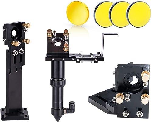 wholesale Cloudray online sale CO2 Laser Head Set + online 3 Pcs Laser Mirror D25mm + 1 Pcs Focus Lens 20mm for Laser Engraving Cutting Machine (FL63.5mm) online sale