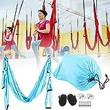 Eosnow Hamaca del oscilación de la Yoga, Hamaca aérea casera de la Yoga de los Accesorios de la Aptitud para al Aire Libre para el Interior(Sky Blue)