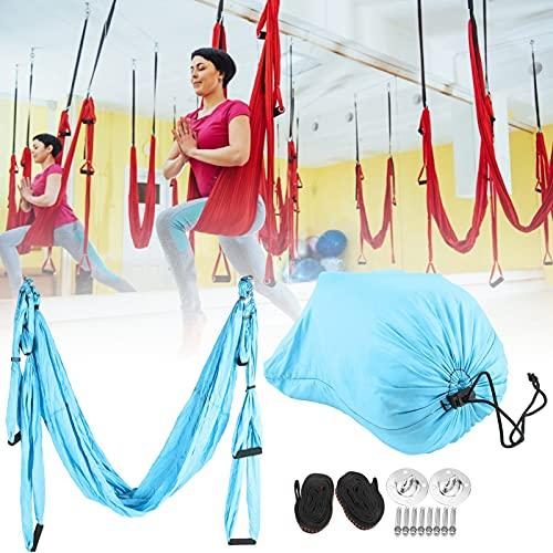 Eulbevoli Hamaca de Yoga al Aire Libre, Accesorios de Fitness para el hogar Herramienta de inversión antigravedad Hamaca de Yoga Reduce la Fatiga para Exteriores para Interiores(Sky Blue)