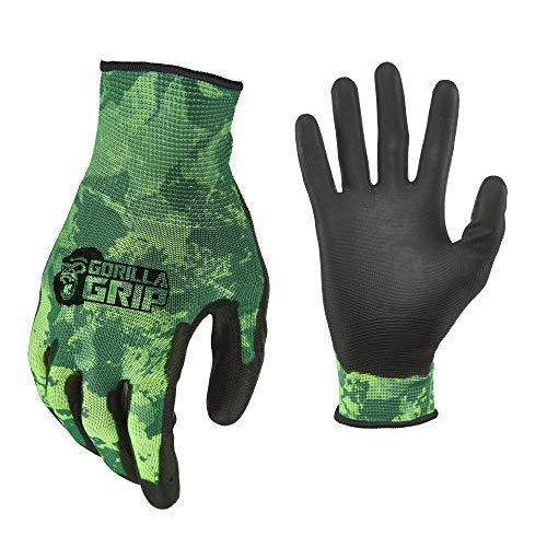 Gorilla Grip Herren Handschuhe, Veil Spectre Green, Large