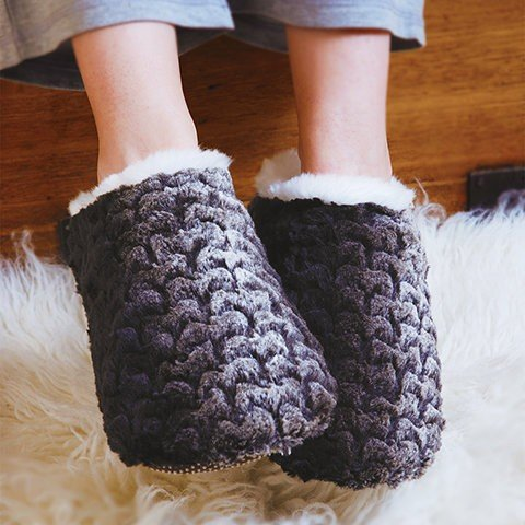 Aroma Home Faux Fur – caliente Brown Mule Slippers,...