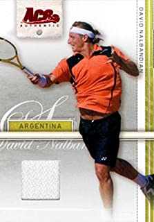 David Nalbandian Player Worn Relic Patch Tennis Card (Argentina) 2007 Ace Authentic #11