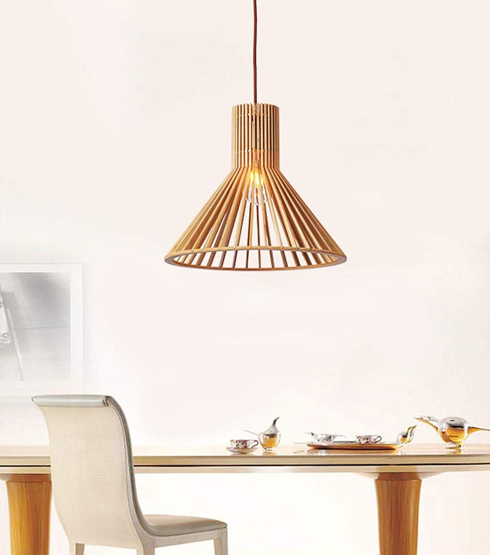 Kreative Pendelleuchte Holz Decke Kronleuchter 1-flammig Hhenverstellbar Hngelampe E27 Esstisch Pendellampe Schlafzimmer Hngeleuchte Wohnzimmer Lampe Esszimmer Modern Deckenlampe