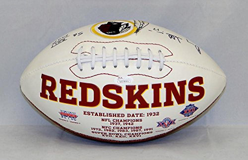 Doug Williams Autographed Washington Redskins Logo Football- JSA W Authenticated