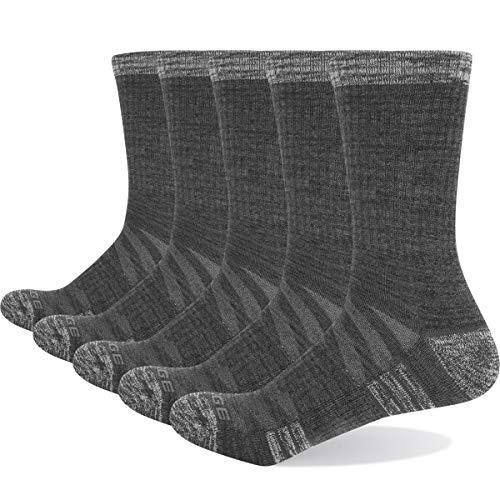 YUEDGE 5 Paare Terry Baumwolle Crew Socken Damen Sportliche Sportsocken Wicking Warme Arbeitssocken 36-40