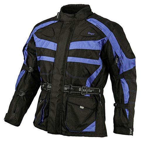 Bangla Kinder Motorradjacke Tourenjacke Textil 1152 Schwarz Blau 140
