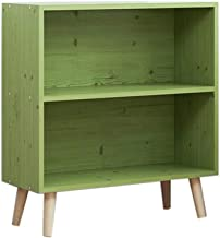 Jcnfa-Shelves Bookcase Solid Wood Legs Small Bookshelf Student Grid Cabinet Bedside Cabinet Convenient Storage, Multi-Color Selection (Color : B, Size : 23.629.4421.25in)