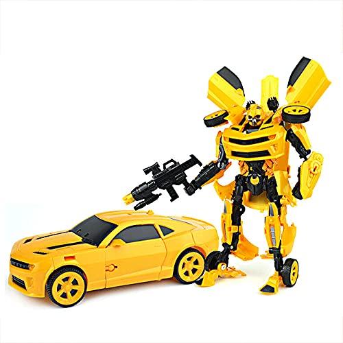 CYLYFFSFC Juguete de deformación para niños robot deformación modelo de coche decoración de escritorio juguete regalo de cumpleaños interacción entre padres e hijos regalo de educación para la primera