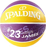 Spalding NBA Player Lebron James SZ.7 (83-848Z) Basketballs, Juventud Unisex, Purple/Yellow, 7