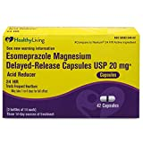 Healthy Living Acid Reducer OTC Esomeprazole Magnesium 20 mg Delayed-Release Capsules, 42 Count