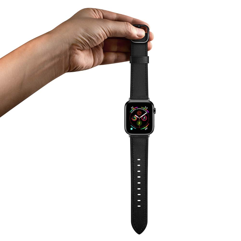 amBand Leather Band Compatible with Apple Watch SE Series 7/6 38mm 40mm 41mm 42mm 44mm 45mm, Genuine Leather Vintage Replacement Strap Classic Bands Buckle Compatible with iWatch SE 7/6/5/4/3/2/1