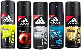 Adidas Pure Game Team Force Dynamic Pulse Ice Dive Victory League Deodorant Spray - For Men  (150 Ml, Pack Of 5)