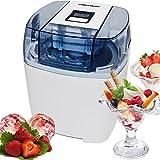Gino Gelati Eis Chef ICD-30W-D ICD-30W-D-Máquina de helado digital 4 en 1, metal, Color blanco