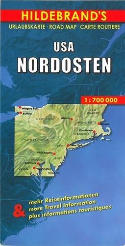 Hildebrand\'s Urlaubskarten, USA, Nordosten: Umgebungskarten: Boston, New York, Washington - Baltimore. Stadtpläne: Boston, New York/Manhattan, ... Ortsregister (Hildebrand\'s USA maps)