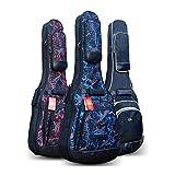"""DRSPD ギターバッグFor41,42インチのアコースティックそしてクラシックギターギグバッグ、12ミリメートルの超厚手のスポンジパッド入り防水ギターケース、ソフトギターケースバックパック (色 : ブラック, サイズ : 41"""")"""