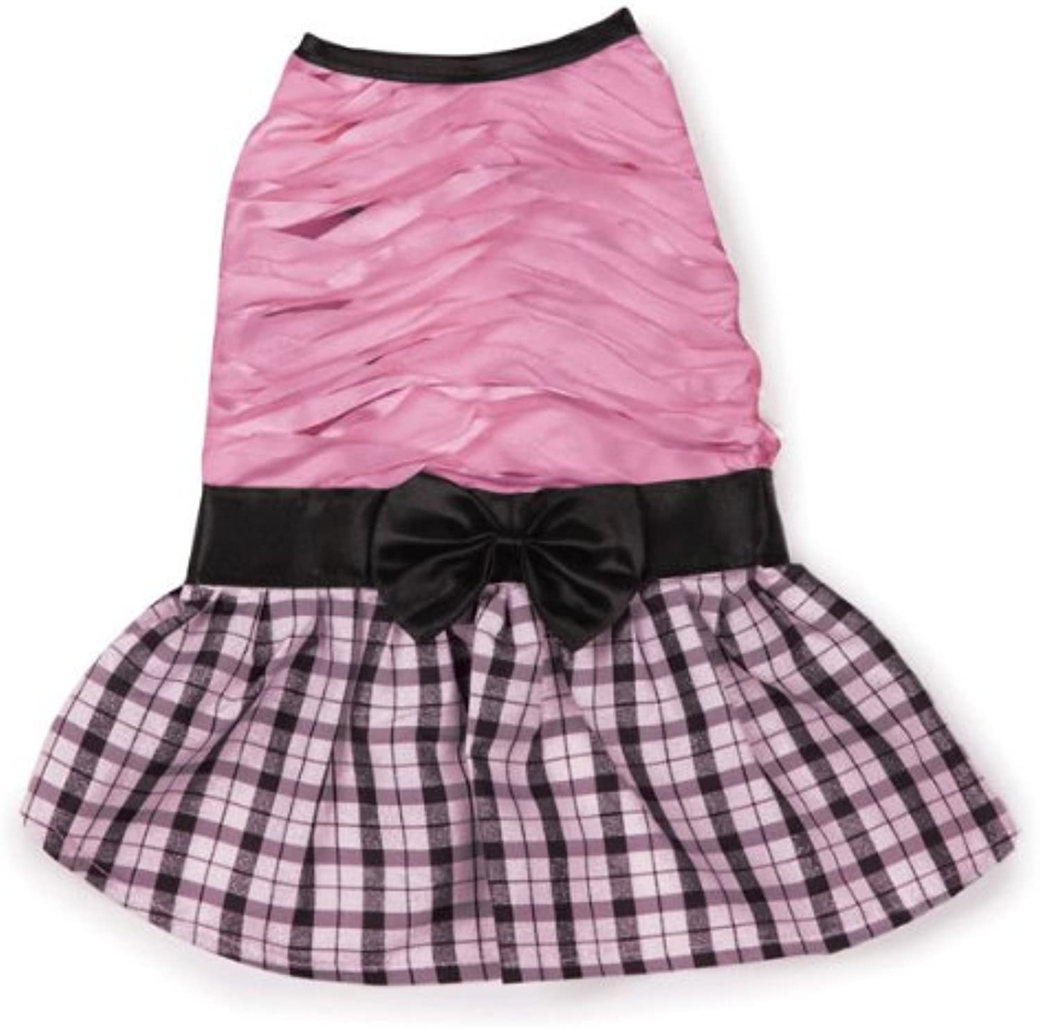 East Side Collection Polyester The First Lady Ruffle Taffeta Dog Dress, XXSmall, 8Inch, Pink