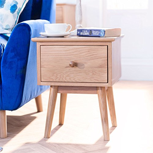 Edvard Olsen Solid Oak Lamp table. Golden Oak sofa table with solid timber deep drawer and dovetail joints. Quality side table