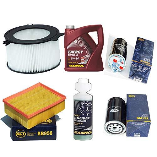 Inspektionspaket Flteristen Pollenfilter SCT Luftfilter Ölfilter Kraftstofffilter Motoröl Geschenk