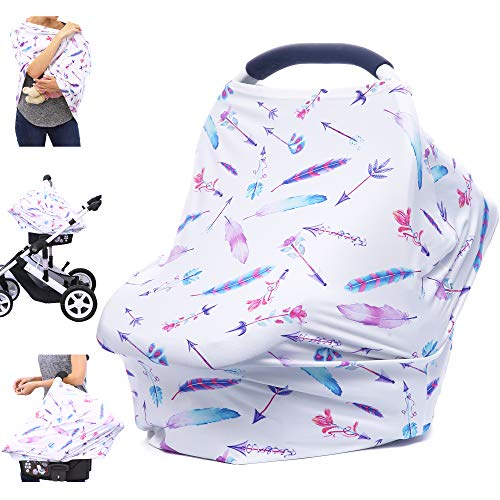 Cheapest Prices! Car Seat Covers for Babies - Nursing Cover Carseat Canopy, Multi-use Breastfeeding ...