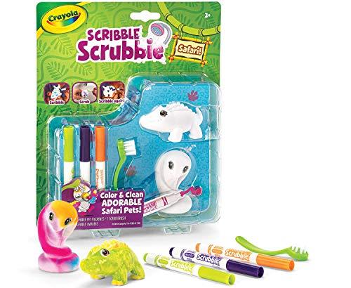 Crayola Scribble Scrubbie Safari Animal Toy Set Expansion Age 3+, Cobra/Gator
