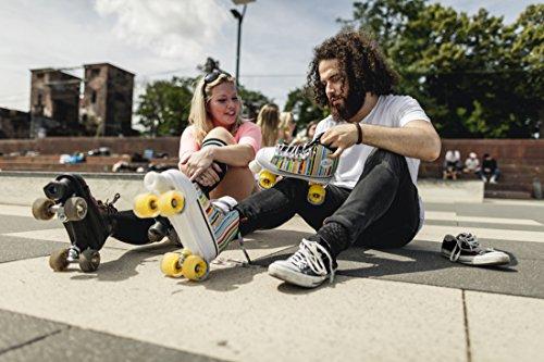 HUDORA Rollschuhe Roller-Skates Candy Stripes, Disco-Roller, Gr. 42, 13056