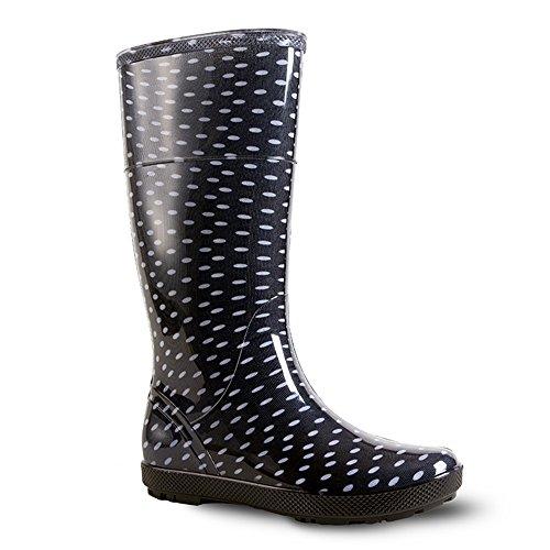 Bottes de pluie en caoutchouc HAWAI LADY par DEMAR - Noir - noir, 38 EU