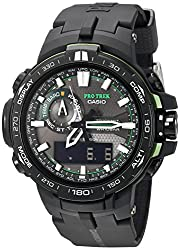 Casio Men's Pro Trek Quartz Watch with Resin Strap, Black, 16 (Model: PRW6000Y-1ACR) - best gps hiking watch for backpacking for trekking, hiking, hunting and trails. Comes with rugged and durable construction. Considered toughest and shock resistant abc watch for hiking.