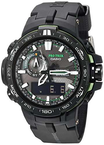 Casio Men's Pro Trek Quartz Watch with Resin Strap, Black, 16 (Model: PRW6000Y-1ACR)