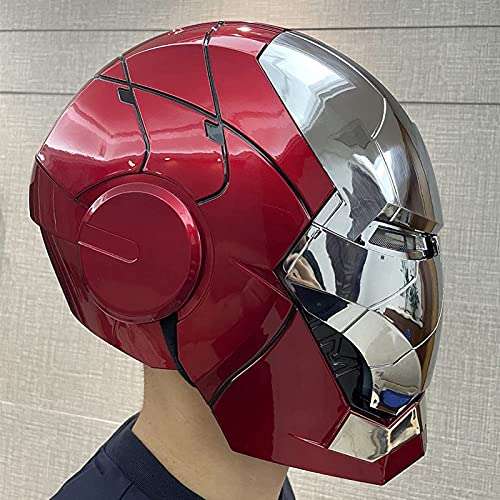 WXHJM 1: 1 Casco Iron Man,Vengadores Casco Máscara de La Cara Llena Película Role-Playing Los Trajes de Halloween,AUTOKING MK5 Eléctrico Cascos,One Size