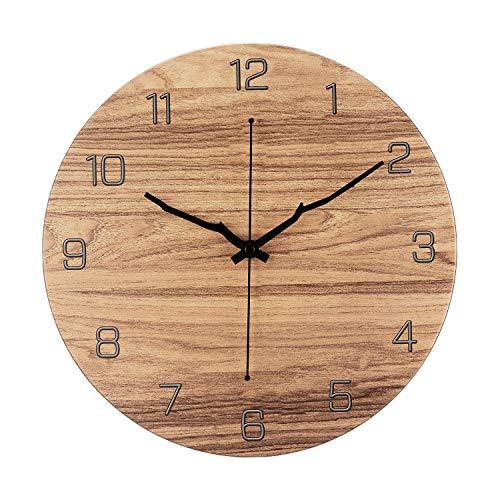 Orologio da parete moderno, motivo in marmo, 30,5 cm, silenzioso, al quarzo, senza ticchettio, decorativo, per soggiorno, casa, ufficio, scuola, camera da letto, funzionamento a batteria