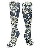 winterwang Calcetines de compresión Pale Florals para mujeres y hombres: los mejores calcetines médicos, de enfermería, de viaje y de vuelo