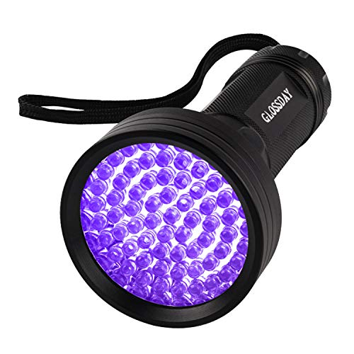 GLOSSDAY Blacklight Flashlight 68 LED UV Flashlight,Ultraviolet Flashlight Black Light Professional Pet Urine Detector for Dog/Cat Urine,Pet Stains,Hunting Scorpions