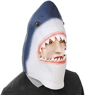 zj Máscara de Halloween Sombrero de Látex Mega Diente Tiburón Máscara de Tiburón Complementos de Tiro Máscara Veneciana Carnaval,1,Una Talla