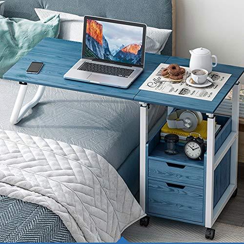 Jlxl Mesa Auxiliar en un sofá Cama, Mesa Ajustable de Ordenador Portatil con Ruedas Bloqueables, for Carro for Laptop, Sala de Estar, Dormitorio, Oficina Escritorios (Color : A)